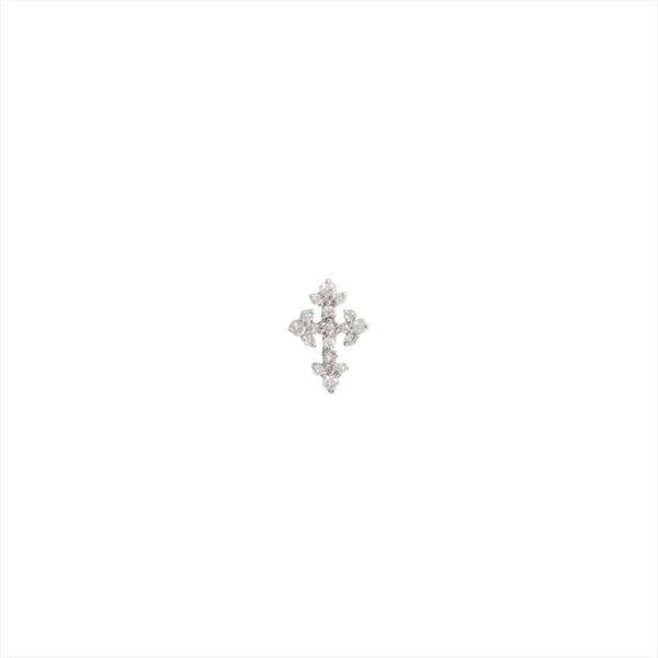 Feidt Paris - Puce d'oreille croix - Lys