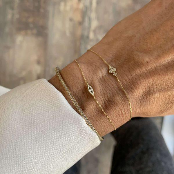 Feidt Paris - Bracelet croix - Lys