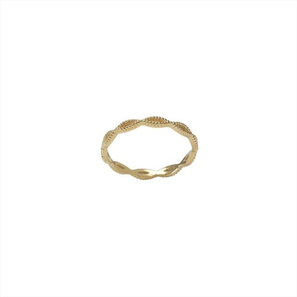 Feidt Paris - Bague Entrelace Milgrain - Antik