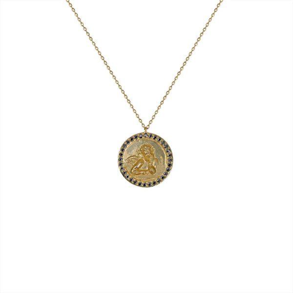Feidt Paris - Collier médaille ronde - Ange Raphael