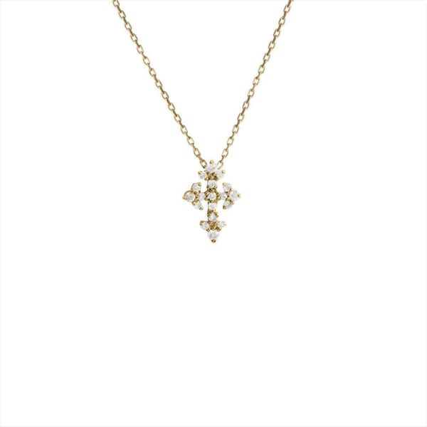Feidt Paris - Collier mini croix - Lys