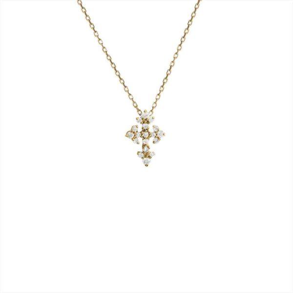 Feidt Paris - Collier mini croix - Lys