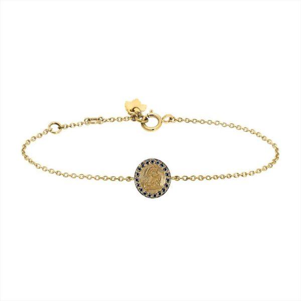 Feidt Paris - Bracelet médaille ronde - Ange Raphaël
