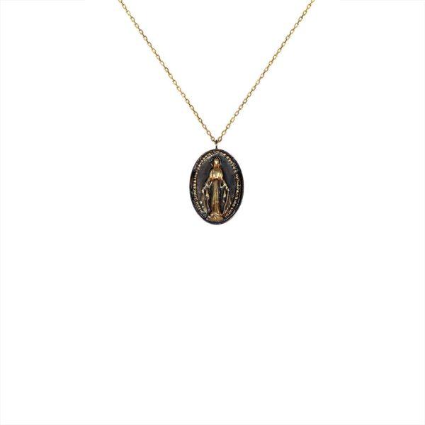 Feidt Paris - Collier Madone - Médaille Bicolore