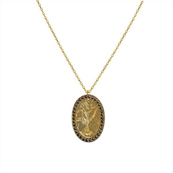 Feidt Paris - Collier Médaille - Arbre de Vie