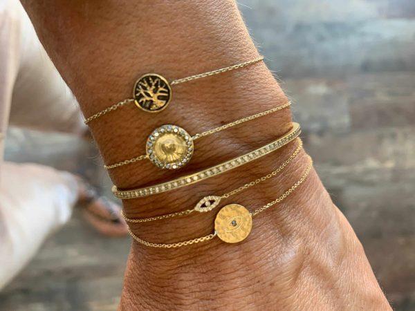 Feidt Paris -Bracelet médaille ronde - Madone