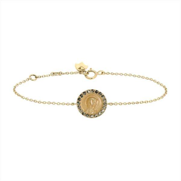 Feidt Paris - Bracelet médaille ronde - Madone