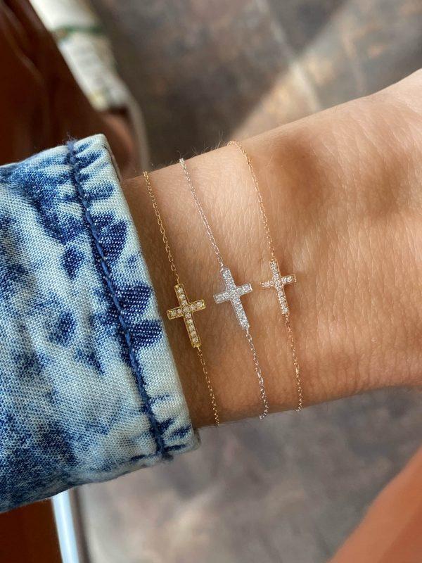 Feidt Paris - Bracelet croix - Les éternels