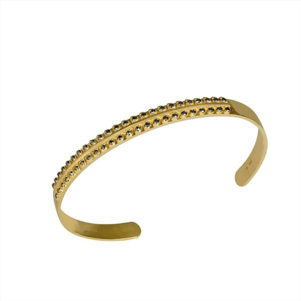 Feidt Paris - Bangle feuillage - Antik